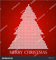 abstract christmas tree pixel vector illustration stock vector