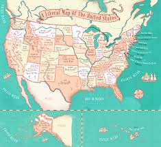 United States License Plate Map by This Map Shows The Literal Translation Of State Names And Their