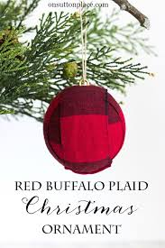 diy buffalo plaid ornament on sutton place