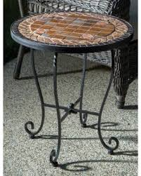 Mosaic Patio Table Top by Deal Alert Dublin Iron 20 Inch Round Ceramic Mosaic Outdoor Tile
