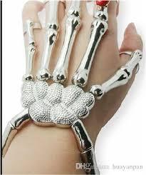 skull hand bracelet images 2015 halloween silver punk rock skeleton skull hand bone bracelet jpg