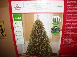 time indoor pre lit 7 5 prescott pine set
