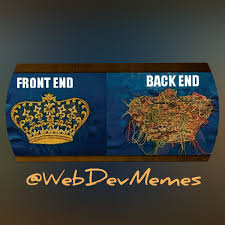 Web Developer Meme - web dev memes on twitter frontend backend developer