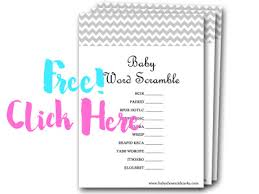 Free Baby Shower Scramble Games - over 30 baby shower game ideas baby shower ideas themes games