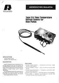 Window Unit Heat Pump E15 Defrost Control 2 Ranco Pdf Catalogue Technical