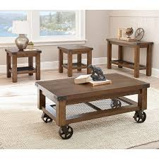 Rustic Coffee Table On Wheels Coffee Table Contemporary 3 Coffee Table Sets 200