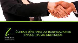 bonificaciones contratos 2016 asesoría laboral últimos días para las bonificaciones en contratos