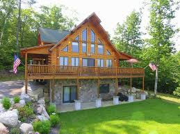 luxury log cabin best views of mt washin vrbo
