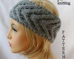 ear warmer headband knitted ear warmer etsy