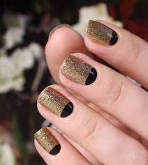 50 half moon nail ideas moon design gold glitter and moon nails