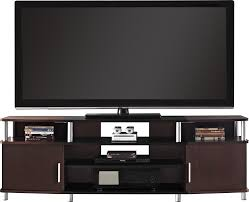 Tv Stand With Back Panel Amazon Com Ameriwood Home Carson Tv Stand For Tvs Up To 70