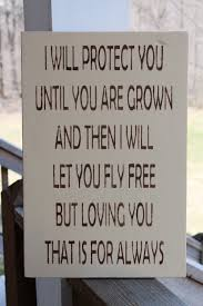 mothers wood sign mothers day gift i will protect you loving