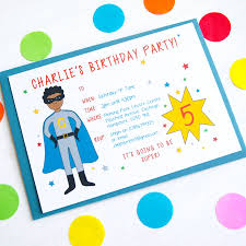 personalised halloween party invitations superhero personalised birthday party invitations by superfumi