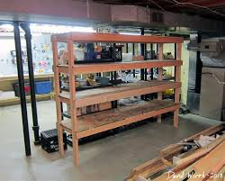 simple basement shelving plans attractive basement shelving