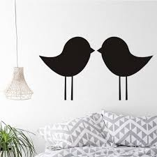 compare prices on kiss wall mural online shopping buy low price simple outline large size personalized color wall sticker cute kissing birds wall mural vinyl art room