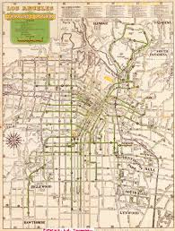 Los Angeles Rail Map by 1947 Guide For Going Places Official Route Map Los Angeles