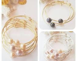 pearl bangle bracelet images Pearl bangle etsy jpg