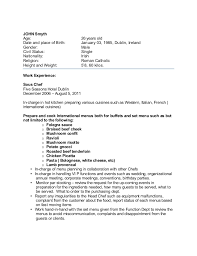 Sample Resume For Chef Position by Cook Resume Examples Cook Resume Line Cook Resume 7587 Chef