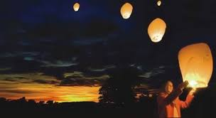 fireworks lantern sky lantern fireworks white
