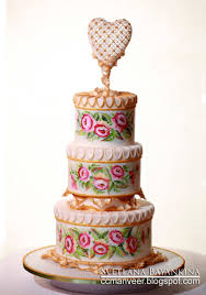 wedding cake websites wedding cake flowers and heart painted with royal icing