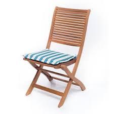 cuscini per sedie da giardino cuscino rigato azzurro da esterno 37x37 per sedia da giardino