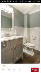 st james single vanity in powder room transitional bathroom