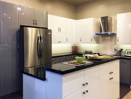 Flat Kitchen Cabinets High Gloss White Flat Slab Panel Cabinets