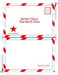 7 best images of free printable santa claus letter template