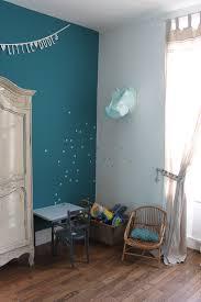 chambre bleu fille chambre enfant garçon vintage mur bleu canard deco vintage