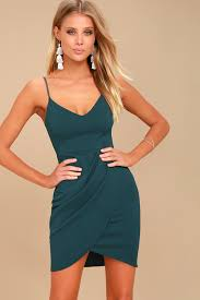 teal blue dress bodycon dress wrap dress