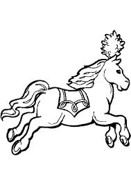 Coloriage cheval manege sur Hugolescargotcom