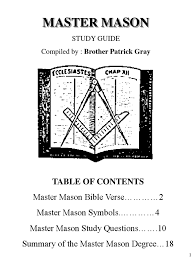complete master mason study guide freemasonry masonic lodge