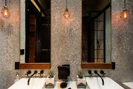 Hamilton Eclectic Industrial Contemporary Bathroom - Industrial bathroom design