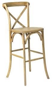Cross Back Chair Rustic Sonoma Solid Wood Cross Back Barstool Tinted Raw W 752