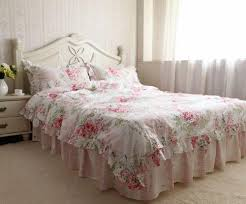 bedroom white simply shabby chic bedding with mattress and night