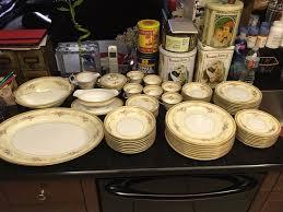 noritake 57 piece china set farney design u2022 300 00 picclick