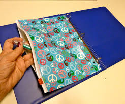 duct tape and storage bag binder pencil pocket with pictures