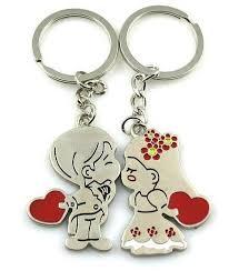 love key rings images Fashion keychains couples love key ring key chains for wedding jpg