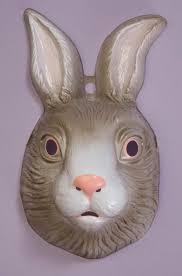 rabbit mask halloween animal masks plastic