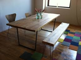 48 by 48 table reclaimed wood industrial modern styled brooklyn dining table 48
