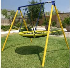 backyard swing set flying saucer ufo kids playground metal playset