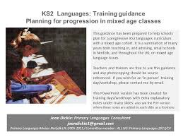 ks2 languages training guidance planning for progression in mixed