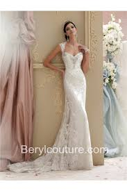 Champagne Wedding Dresses Mermaid Sweetheart Cap Sleeve Keyhole Open Back Lace