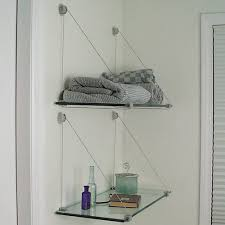 wall mounted l with cord l shaped shelves set of 2 in wall mounted shelves
