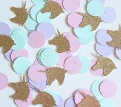 gold glitter unicorn pink purple mint 1 u0027 circle confetti 100