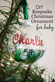 diy keepsake christmas ornament for baby keepsakes christmas