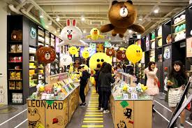 Line Store Line Friends Store Cafe Seoul Cuteness With Brown