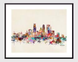 toronto ontario skyline colorful pop art skylines gallery