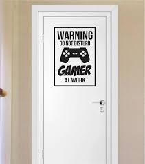 gamer do not disturb warning version 1 game gaming decal sticker
