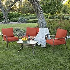 amazon com best choice products 4 piece cushioned patio furniture